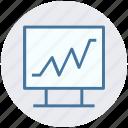 heartbeat, monitor screen, rhythm, screen, screen rhythm icon