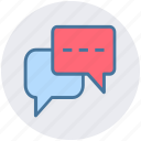 chat, chat boxes, online chatting, online conversation, talk sign icon