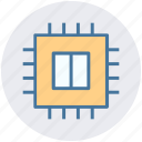 central processor, chip, core, cpu, microchip, processor icon