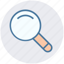 magnifier, magnifying glass, search tool, tool, view, zoom icon