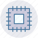 central processor, chip, cpu, cpu chip, microchip, processor icon