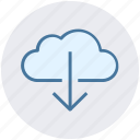 cloud and download sign, cloud computing, cloud download, cloud network, cloud downloading
