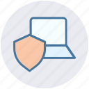 internet security, internet security concept, laptop, laptop with shield, security concept icon