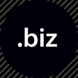 biz, domain, extension, internet, online, web icon