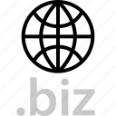 biz, extension, globe, internet, online, web icon