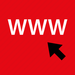 arrow, click, internet, online, visit, web icon