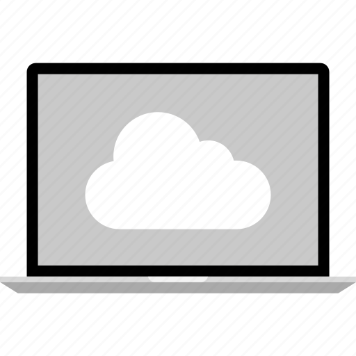 cloud, internet, laptop, online, web icon
