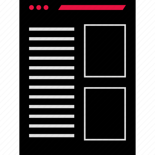 design, experience, layout icon