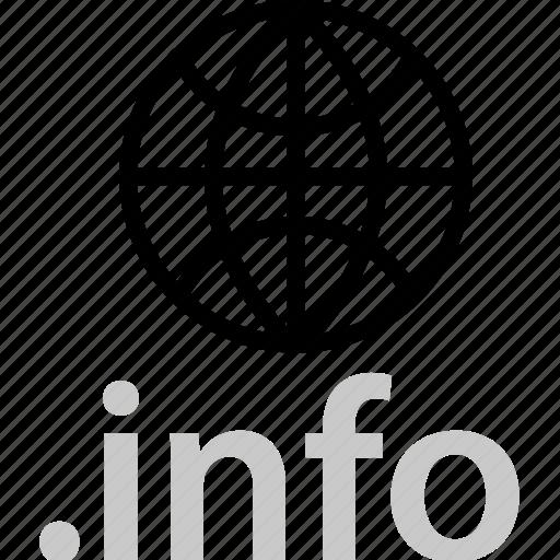 extension, globe, info, internet, online, web, world icon
