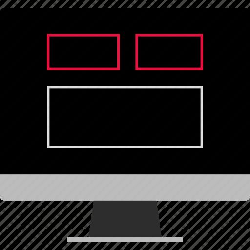 mockup, page, web icon