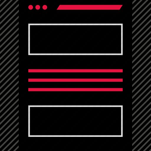 mockup, page, web, website icon