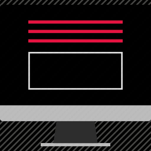monitor, web, www icon