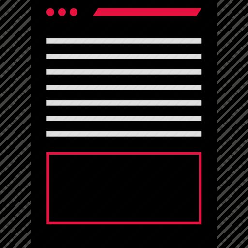 page, ux, web icon