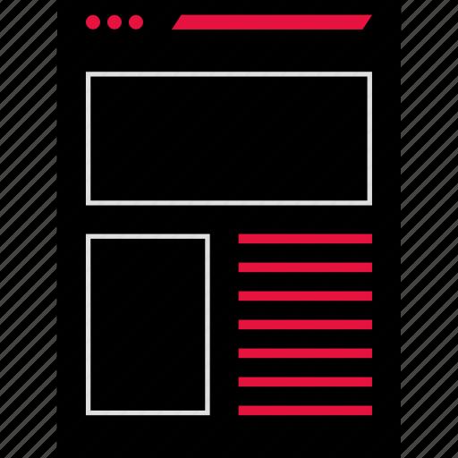 analytics, online, web icon