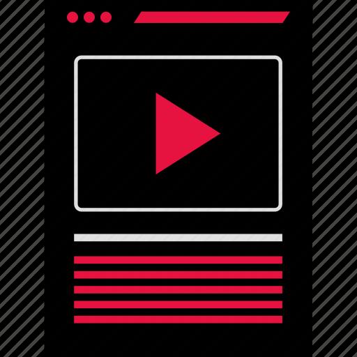 page, video, web icon