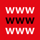 internet, online, us, visit, web, www icon