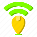 internet, location, map, place, wifi icon