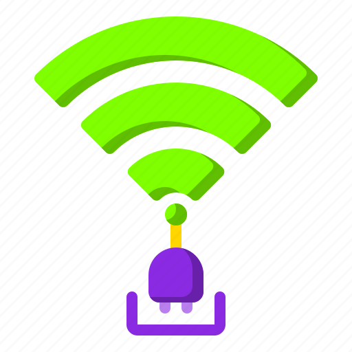 connected, internet, plug, website, wifi icon