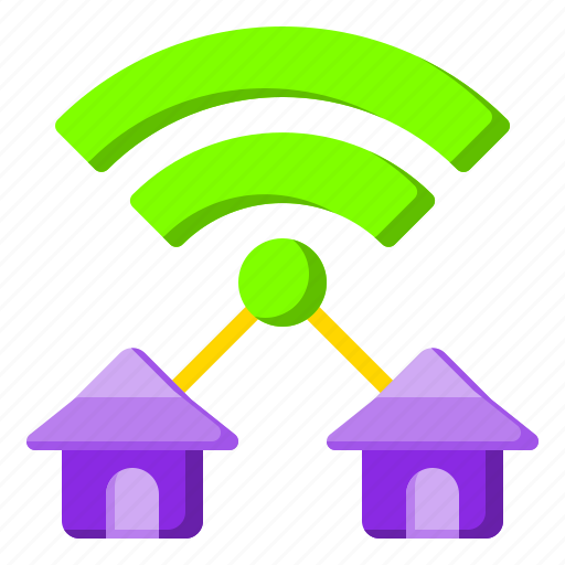 broadband, connection, house, internet, website icon