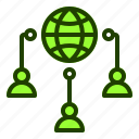 connectivity, internet, people, users, website icon