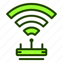 hotspot, internet, router, website, wifi icon