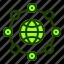 connectivity, dot, internet, network, website icon