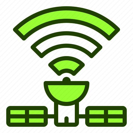 connection, internet, satellite, space, website icon