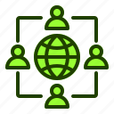 connectivity, group, internet, user, website icon