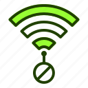 connection, disconnect, internet, no, website, wifi icon