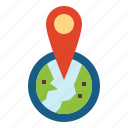 geolocation, gps, location, pin icon