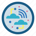 connected, internet, network, technology icon