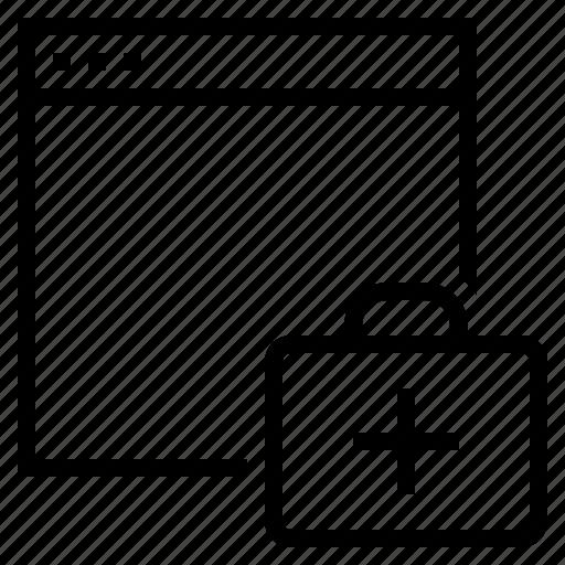 internet health, internet security, online health, software health, software optimization icon