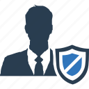 identify, management, safety, secure, security, seo icon