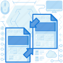 arrow, arrows, document, file, page, paper, transfer icon