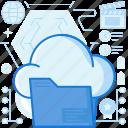 cloud, data, database, file, folder, internet, storage