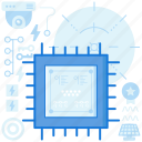 chip, device, electronic, memory, microchip, technology icon
