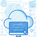 cloud, code, coding, computer, monitor, programming, screen