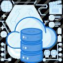 cloud, database, device, electronic, rack, server, storage