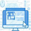 ecommerce, monitor, screen, shop, shopping, webpage, website