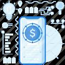 coin, dollar, finance, mobile, money, phone, smartphone