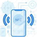 mobile, nfc, phone, sharing, smartphone, transfer, wireless icon