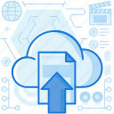 arrow, cloud, document, file, transfer, up, upload icon