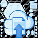 arrow, cloud, document, file, transfer, up, upload