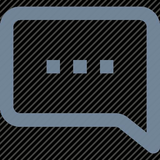 bubble, chat, communication, line, speech icon