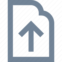 document, file, internet, line, paper, upload icon