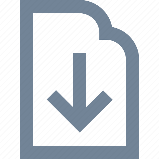 document, download, file, internet, line, paper icon