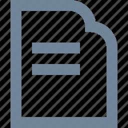 document, file, line, paper, print icon