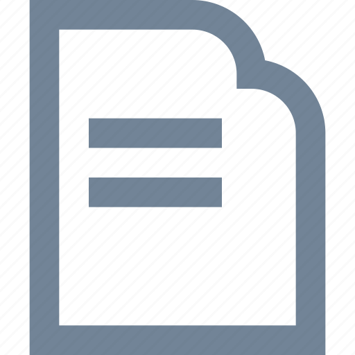 document, file, line, paper, print icon