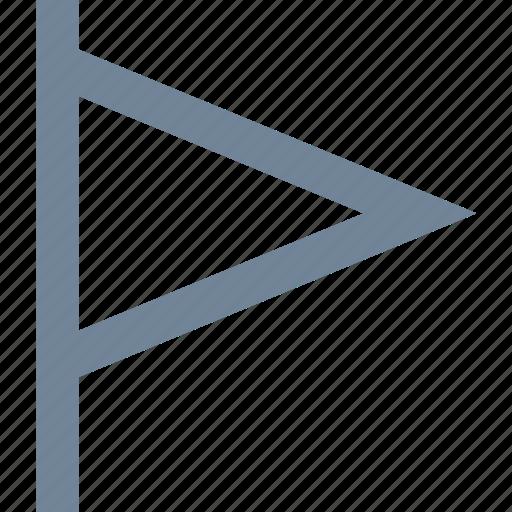 flag, line, pin icon