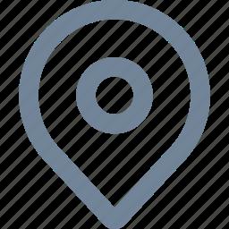 gps, home, line, navigation, pin icon
